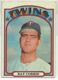1972 Topps Baseball Cards      066      Ray Corbin RC